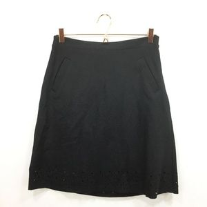 New Banana Republic 6 Tall Skirt Black Foulard
